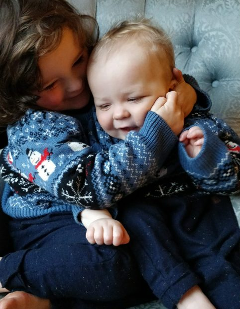 Matching Boys in Christmas Jumpers