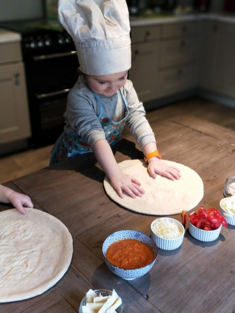 Cooking With Your Toddler Pizza Pile Up