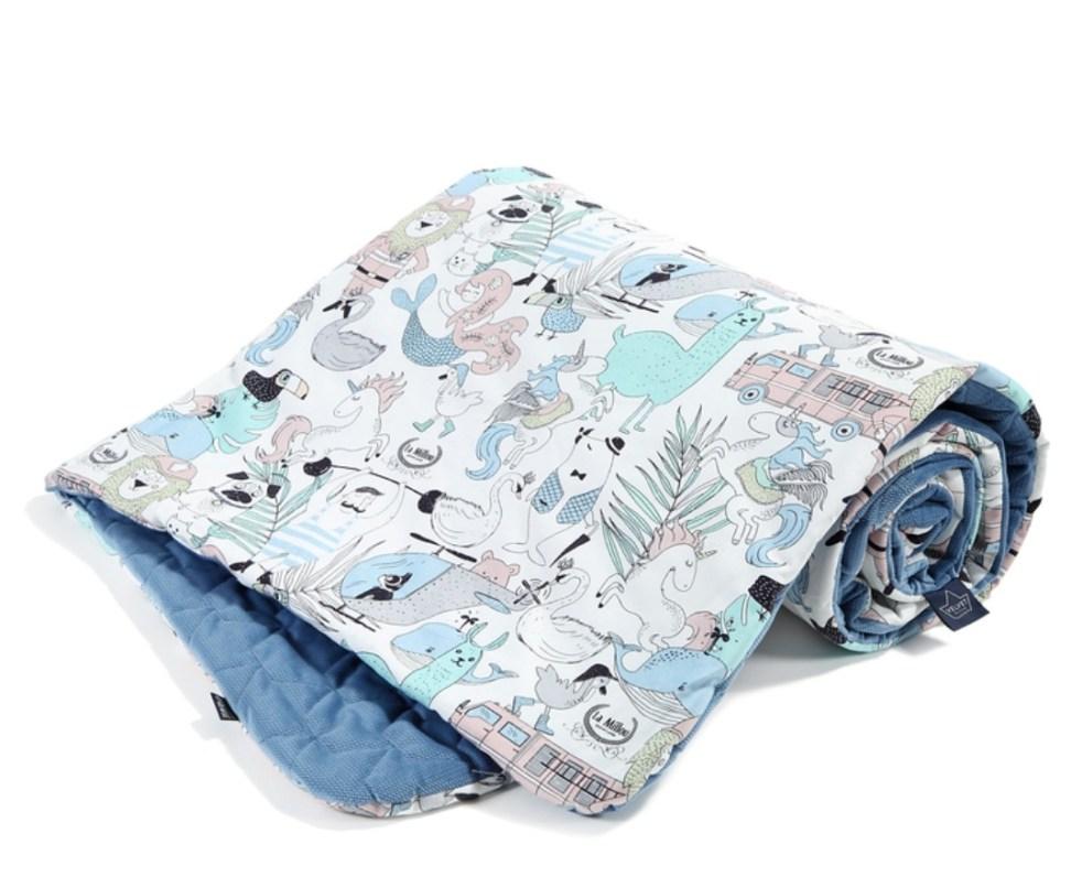 Fluffy Fields La Millou Velvet Quilted Blanket