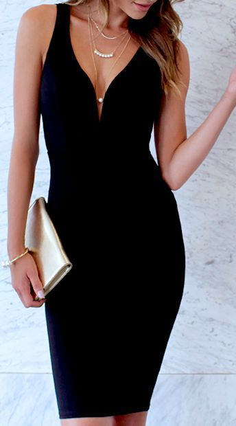 Black elegant Dress Make Up What To Wear When You Have Nothing To Wear