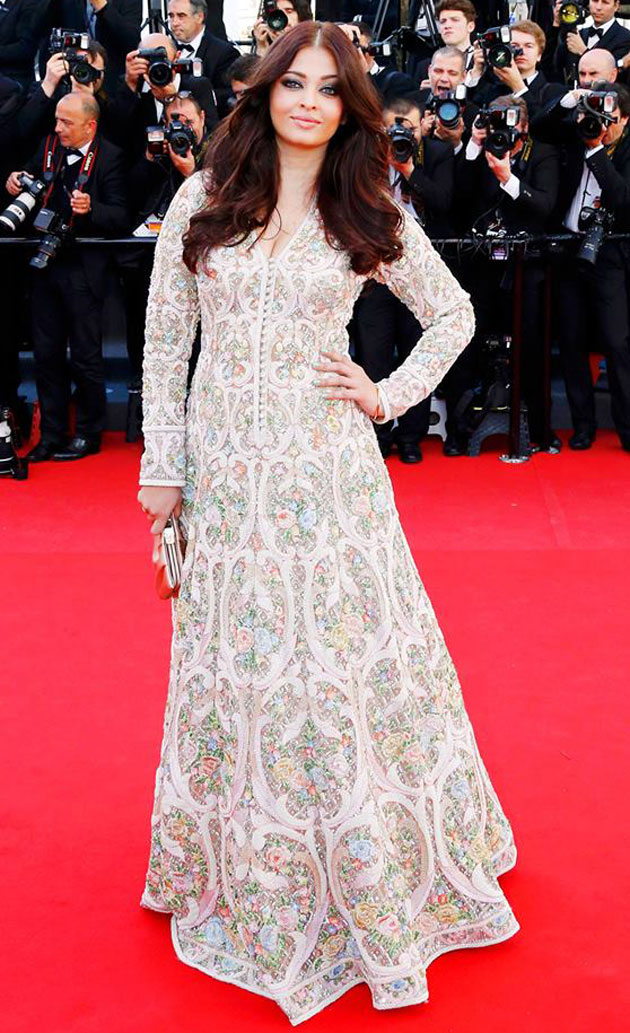 LXP - Lifexpe - Aishwarya Rai Cannes white anarkali indian dress