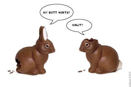 I should feel worse for the upcoming Bunny carnage that I shall wreak upon the land! but I don't :)