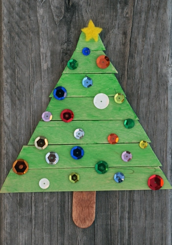 101 Days Of Christmas Popsicle Stick Christmas Tree