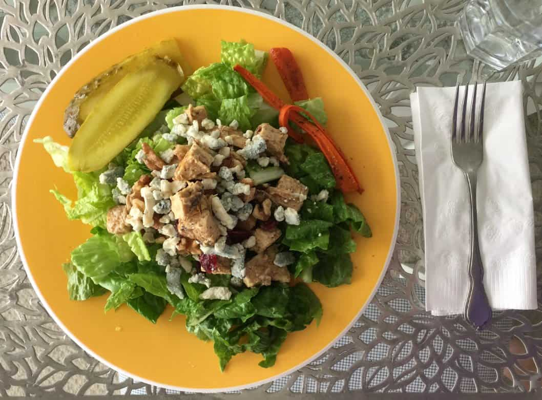 diced chicken dried cherries romaine salad