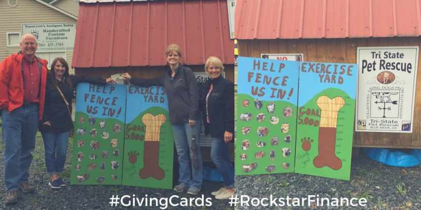 GivingCards RockstarFinance donation to pet rescue and Gluten-free Almond Coconut Chocolate Chip Cookies