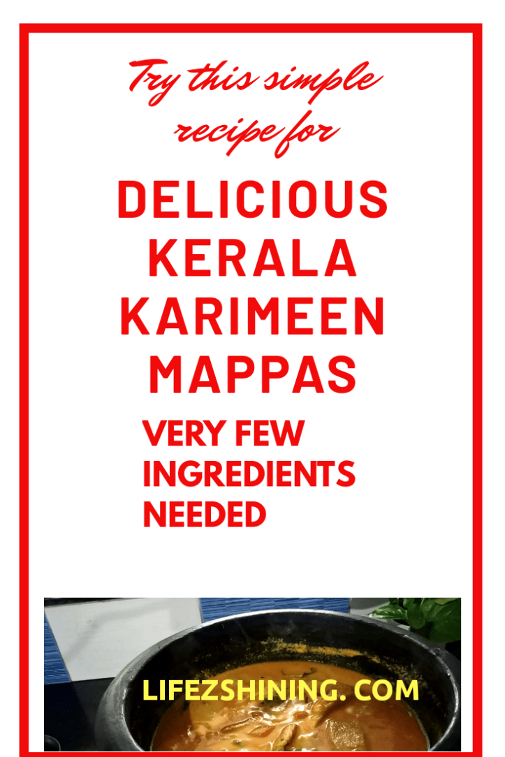 Tasty Kerala Karimeen Mappas only few ingredients needed to make it.