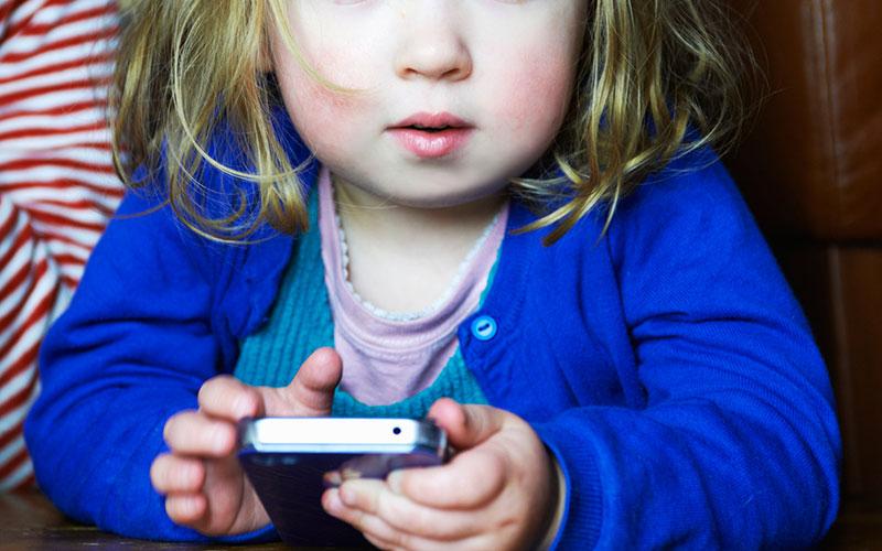Modern children and gadget