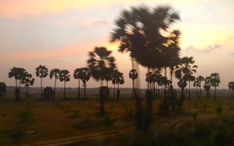 Jaffna by rail from Matara