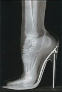 extreme flexion with high heels