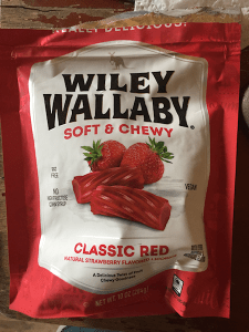 Red licorice package