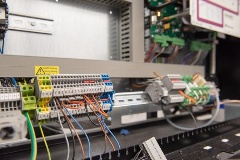 Wiring inside control panel