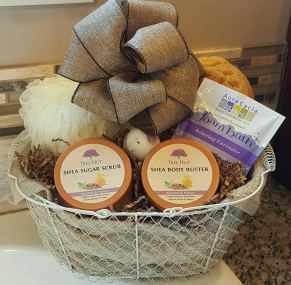 Prizes! We can't wait to give away this beautiful gift from Baskets by Bernie!