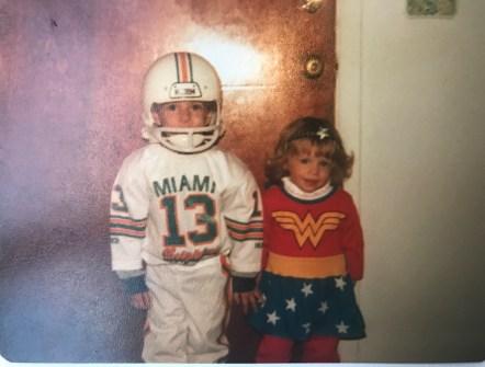 Chris and me, Wonderwoman