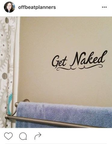 Get naked decal sign by @Offbeatplanners -- Lifting in Scrubs