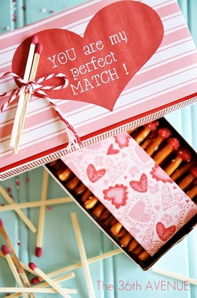 Perfect Match Valentine's Edible Box of Matches Gift Idea via The36thAvenue.com