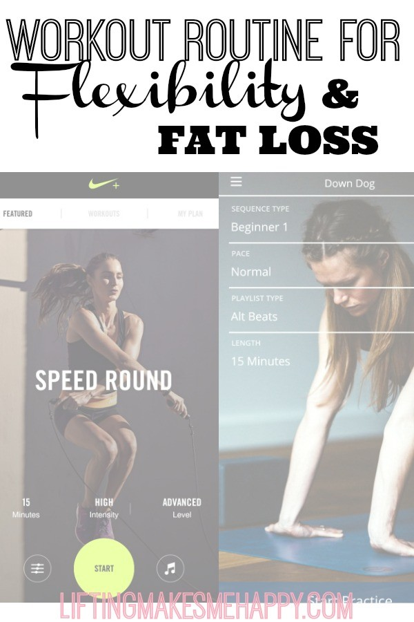 My Workout Routine for Flexibility and Fat Loss - via LiftingMakesMeHappy.com