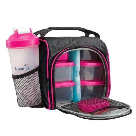 lunch bag with portion control containers