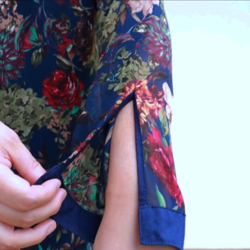 A continuous bound sleeve placket is a delicate feature you will see on women's shirts and blouses and it's not as difficult as you might think.  I am sharing a full step-by-step tutorial so you can do this too.  I am using the Mila shirt from Itch to Stitch sewing patterns to show this beautiful technique