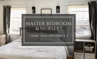 Minimalist Master Bedroom and shared nursery