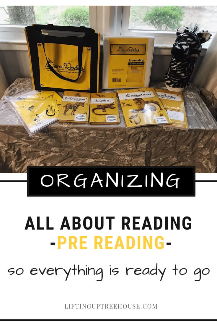 Organizing All About Reading