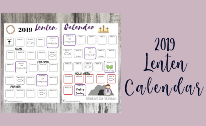 free lent printables for families