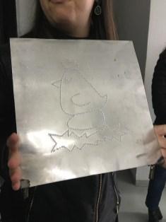 Placa utilizada para livro braille - ilustração