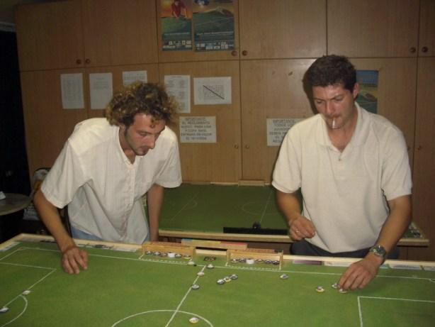 Primer partido de Liga entre los Arquimbau