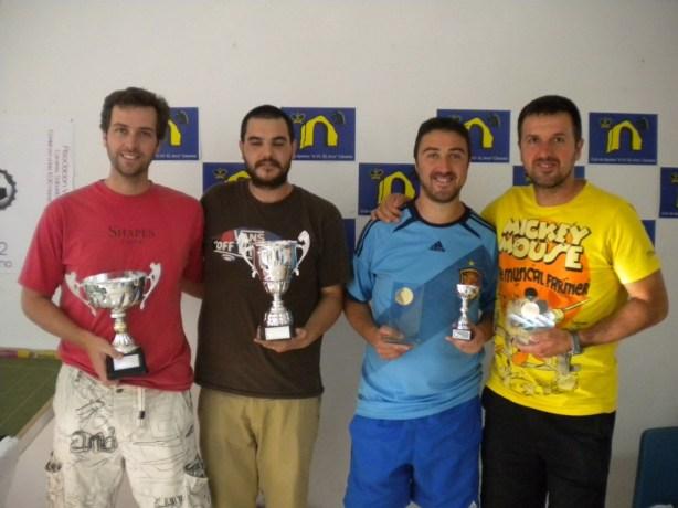 David Campón, Roberto Sánchez, Roberto Plaza y Alejandro García formaron el Cuadro de Honor