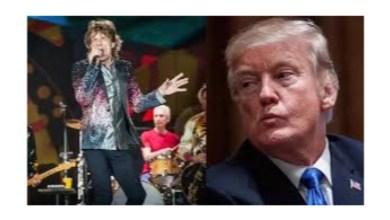 صورة ترامب مهدد من فرقة الروك البريطانية رولينج ستونز بمقاضاة إذا استخدم أغانيهم في المسيرات