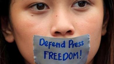 صورة انتكاسة لحرية الإعلام وحرية التعبير