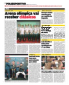 Matéria publicada no Jornal Lance, de 16 de setembro de 2017