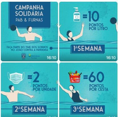 Polo Aquático Brasil lança campanha solidária em combate à Covid-19