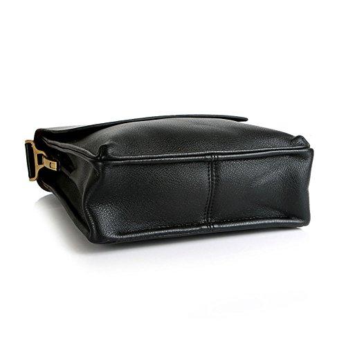 Retro Brown, One/_Size Mens Genuine Leather Travel Bag Business Casual Shoulder Bag