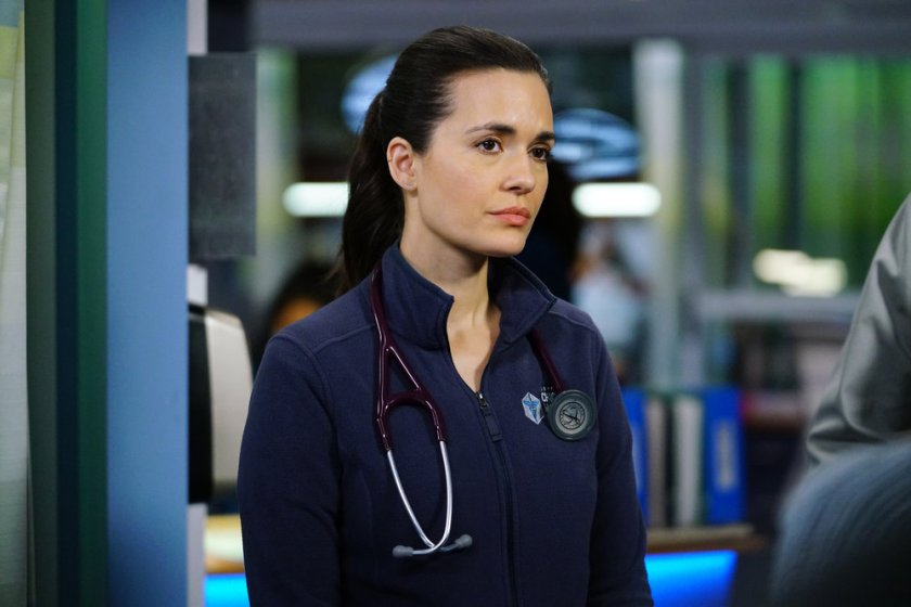 """CHICAGO MED -- """"So Many Things We've Kept Buried"""" Episode 610 -- Pictured: (l-r) Torrey DeVitto as Natalie Manning -- (Photo by: Elizabeth Sisson/NBC)"""