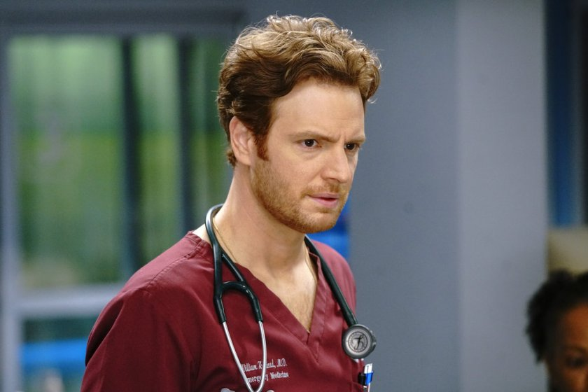 """CHICAGO MED -- """"Letting Go Olny To Come Together"""" Episode 611 -- Pictured: Nick Gehlfuss as Dr. Will Halstead  -- (Photo by: Elizabeth Sisson/NBC)"""