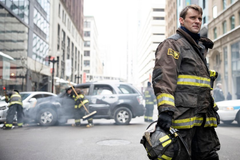 """CHICAGO FIRE -- """"Double Red"""" Episode 909 -- Pictured: Jesse Spencer as Matthew Casey -- (Photo by: Adrian S. Burrows Sr./NBC)"""