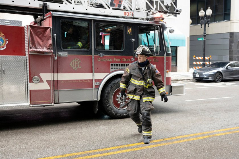 CHICAGO FIRE -- Episode 909 -- Pictured: Jesse Spencer as Matthew Casey -- (Photo by: Adrian S. Burrows Sr./NBC)