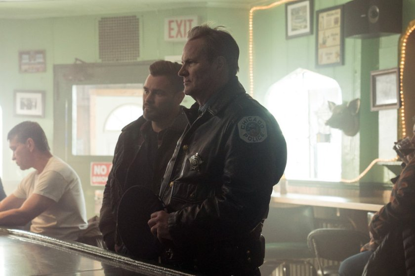 "CHICAGO P.D. -- ""The Radical Truth"" Episode 810 -- Pictured: (l-r) Patrick John Flueger as Adam Ruzek, Jack Coleman as Bob Ruzek -- (Photo by: Lori Allen/NBC)"