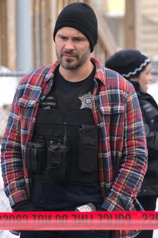 "CHICAGO P.D. -- ""The Radical Truth"" Episode 810 -- Pictured: (l-r) Patrick John Flueger as Adam Ruzek -- (Photo by: Lori Allen/NBC)"