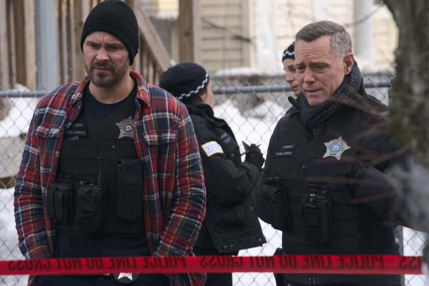 "CHICAGO P.D. -- ""The Radical Truth"" Episode 810 -- Pictured: (l-r) Patrick John Flueger as Adam Ruzek -- (Photo by: Lori Allen/NBC)"