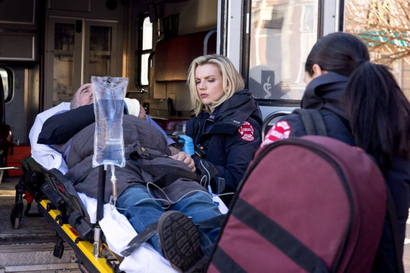 """CHICAGO FIRE -- """"A Couple Hundred Degrees"""" Episode 911 -- Pictured: Kara Killmer as Sylvie Brett -- (Photo by: Adrian S. Burrows Sr./NBC)"""