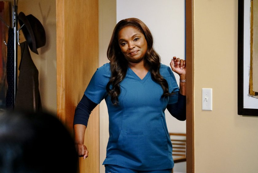 """CHICAGO MED -- """"What A Tangle Web We Weave"""" Episode 613 -- Pictured: Marlyne Barrett as Maggie -- (Photo by: Elizabeth Sisson/NBC)"""
