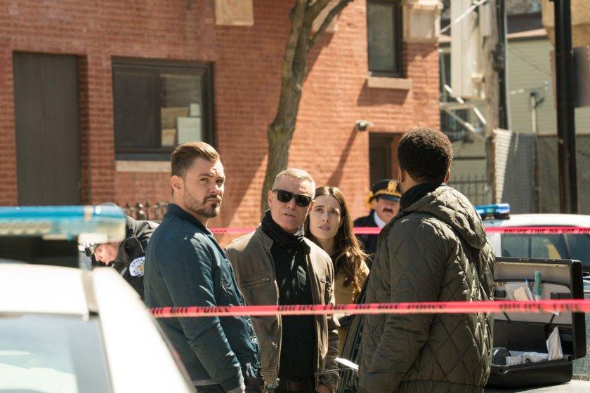 "CHICAGO P.D. -- ""Trouble Dolls"" Episode 813 -- Pictured: (l-r) Patrick John Flueger as Adam Ruzek, Jason Beghe as Hank Voight, Marina Squerciati as Kim Burgess -- (Photo by: Lori Allen/NBC)"