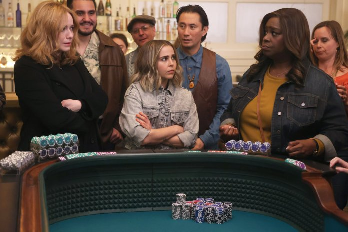 """GOOD GIRLS -- """"Put It All On Two"""" Episode 411 -- Pictured: (l-r) Christina Hendricks as Beth Boland, Mae Whitman as Annie Marks, Retta as Rubby Hill -- (Photo by: Jordin Althaus/NBC)"""