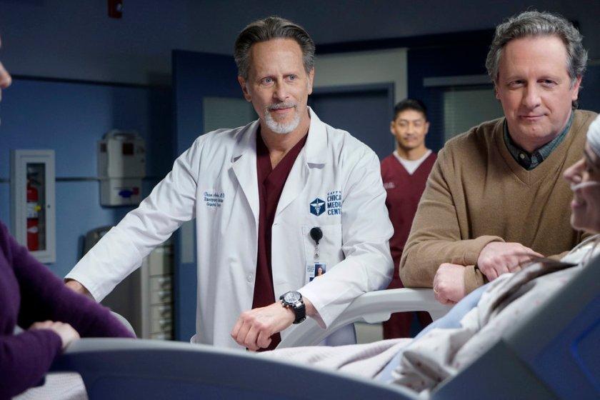 "CHICAGO MED -- ""Stories, Secrets, Half Truth and Lies"" Episode 615 -- Pictured: (l-r) Steven Weber as Dr. Dean Archer -- (Photo by: Elizabeth Sisson/NBC)"