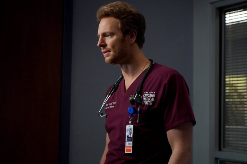 """CHICAGO MED -- """"Stories, Secrets, Half Truth and Lies"""" Episode 615 -- Pictured: Nick Gehlfuss as Dr. Will Halstead -- (Photo by: Elizabeth Sisson/NBC)"""