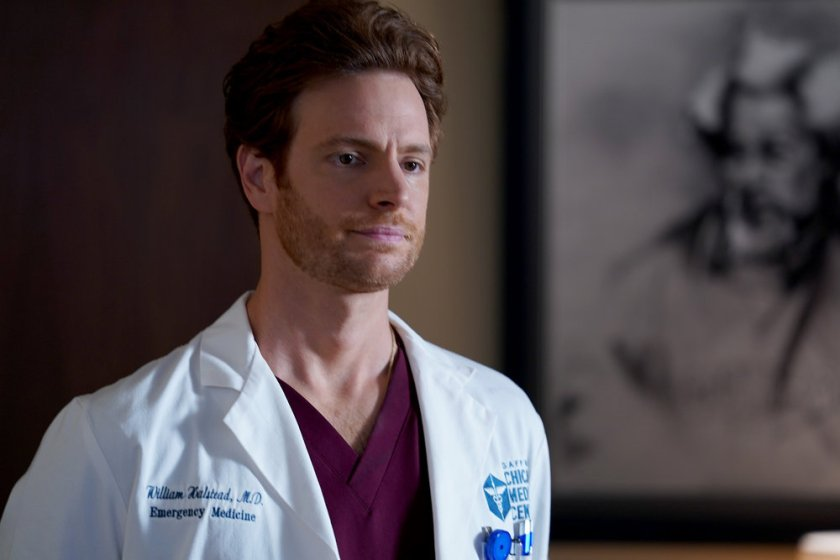 """CHICAGO MED -- """"I Will Come To Save You"""" Episode 616 -- Pictured: Nick Gehlfuss as Dr. Will Halstead -- (Photo by: Elizabeth Sisson/NBC)"""