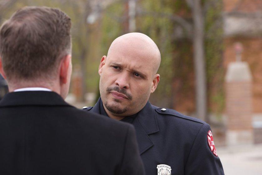 "CHICAGO FIRE -- ""A White Knuckle Panic"" Episode 915 -- Pictured: Joe Minoso as Joe Cruz -- (Photo by: Adrian S. Burrows Sr./NBC)"