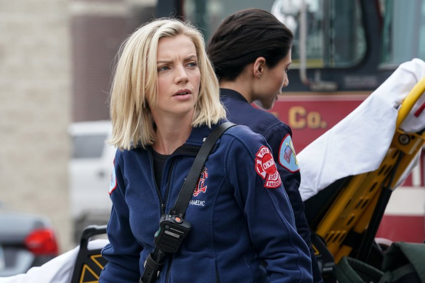 "CHICAGO FIRE -- ""A White Knuckle Panic"" Episode 915 -- Pictured: Kara Killmer as Sylvie Brett -- (Photo by: Lori Allen/NBC)"