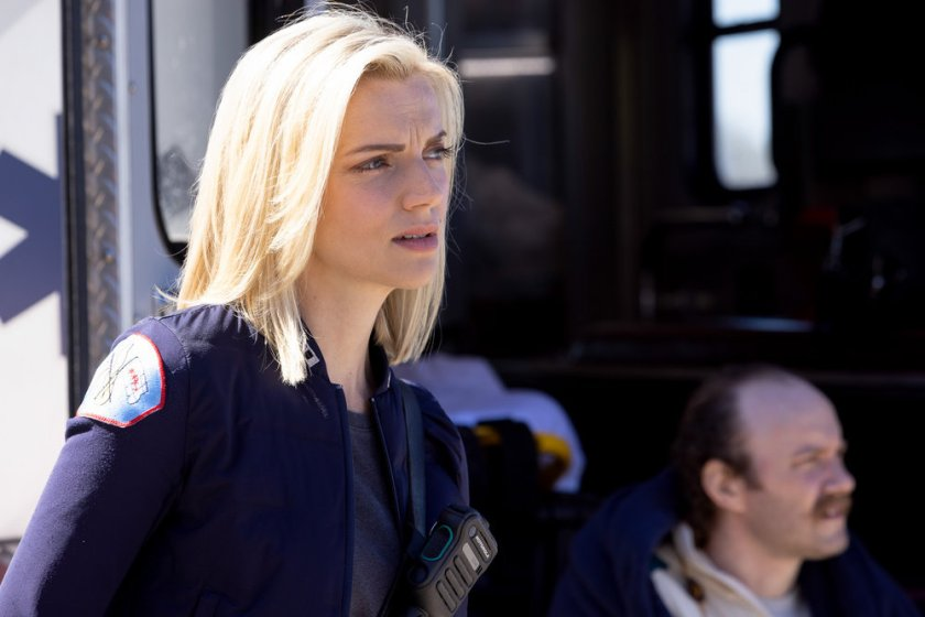"CHICAGO FIRE -- ""No Survivors"" Episode 916 -- Pictured: Kara Killmer as Sylvie Brett -- (Photo by: Adrian S. Burrows Sr./NBC)"